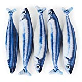Amazon.co.jpOCSOSO Fish funny cat, cat toy, fish-style cat holding pillow Plush toy and fish fish Kitten large cat (M(40cm), さんま)