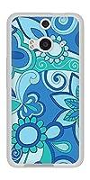 HTC J butterfly HTL23 TPU ソフトケース 409 ブルーミックス 素材ホワイト