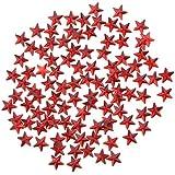 Baosity スタービーズ スター 星型 DIY 手作り 可愛い 装飾 2タイプ選べる - 赤, 10mm 約500個