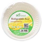 Biogreen Disposable Bowl, Milky White, 10 oz, Pack of 20