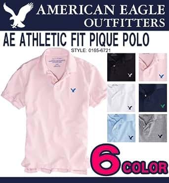「並行輸入品」アメリカンイーグル メンズ 半袖 鹿の子ポロシャツ AE STRIPED POLO ホワイト (1513-7354)(1513-7188) S