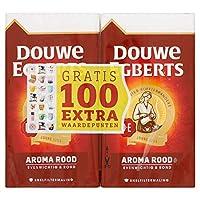 グラウンドコーヒー | Douwe Egberts | アロマレッドダブルパックフィルターコーヒー | 総重量 1000 グラム