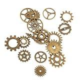 【ノーブランド品】歯車ペンダント DIY 素材 材料 飾り スチームパンク ギア ヨーロッパ風 17個