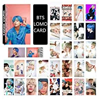Saitrewed-BTS 防弾少年団 MAP OF THE SOUL PERSONA LOMOカード 30枚 BTS 写真 ニューアルバム BOY WITH LUV 応援グッズ はがき フォトカードセット 人気 ギフト for a.r.m.y(金泰亨)