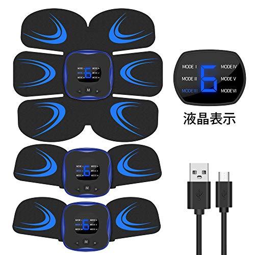Vaculim EMS 腹筋ベルト 液晶表示 USB充電式 腹筋 腕筋 筋トレ器