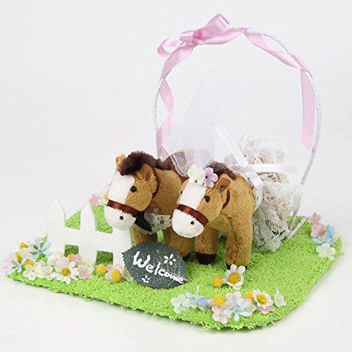 ウェルカムドール 結婚式ぬいぐるみ ミニポニー 馬(ブラウン) ウエディングドール ウエルカムドール 馬