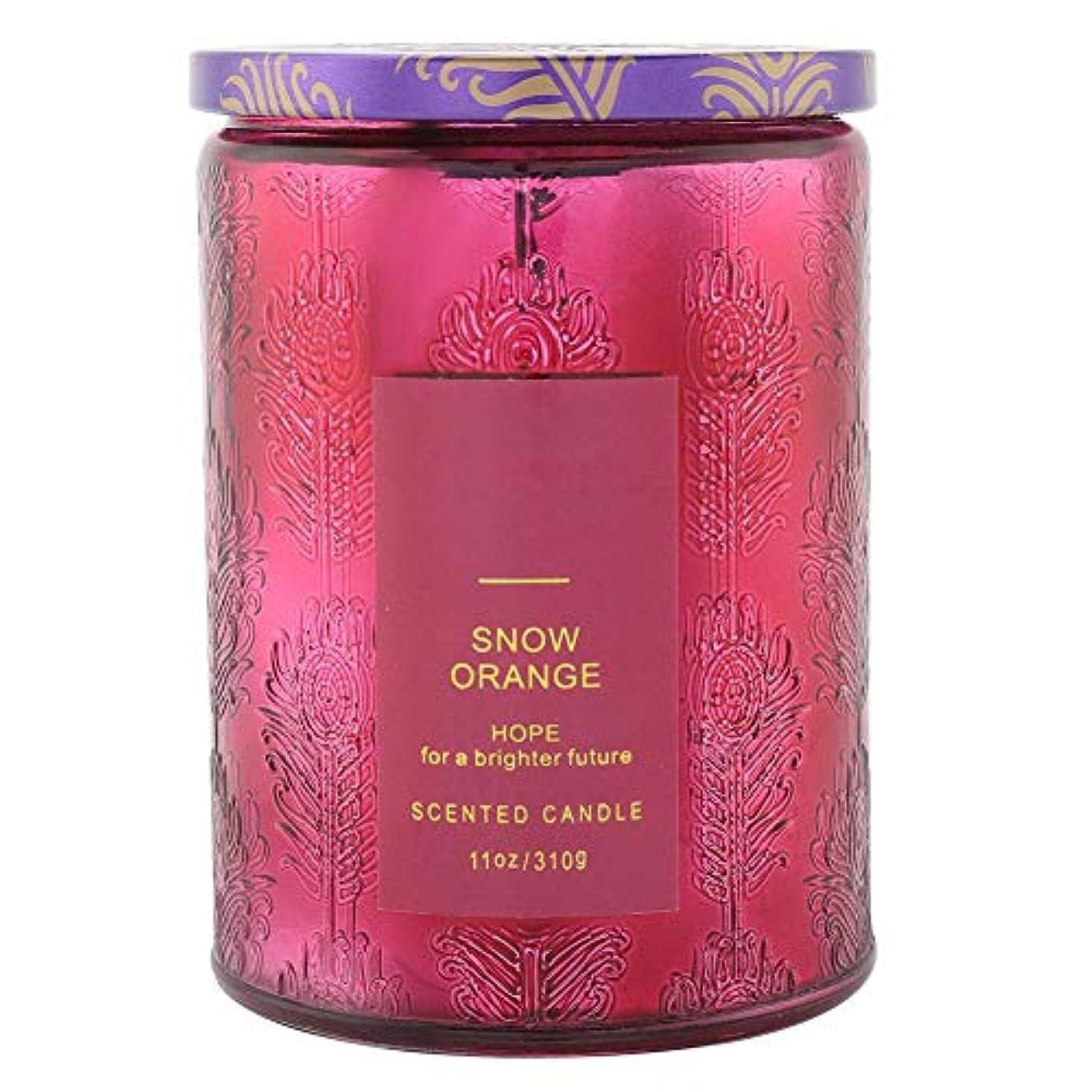 保全繊細飛躍オレンジ香料入りキャンドル、繊細な香料入りキャンドルフルーツフレグランスワックスエッセンシャルオイルディフューザーキャンドル