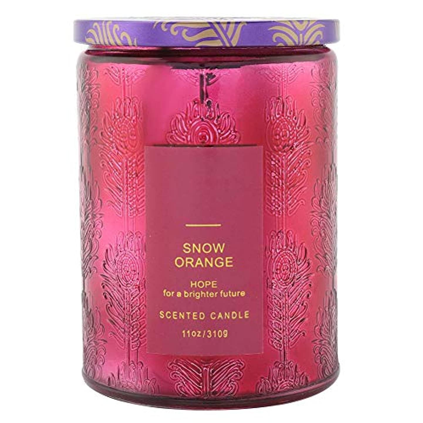 最大化する印象的な取り壊すオレンジ香料入りキャンドル、繊細な香料入りキャンドルフルーツフレグランスワックスエッセンシャルオイルディフューザーキャンドル