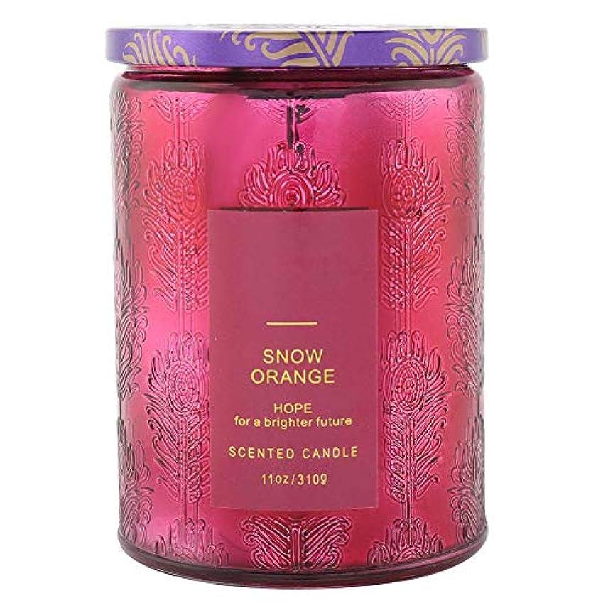 無視一見長椅子オレンジ香料入りキャンドル、繊細な香料入りキャンドルフルーツフレグランスワックスエッセンシャルオイルディフューザーキャンドル