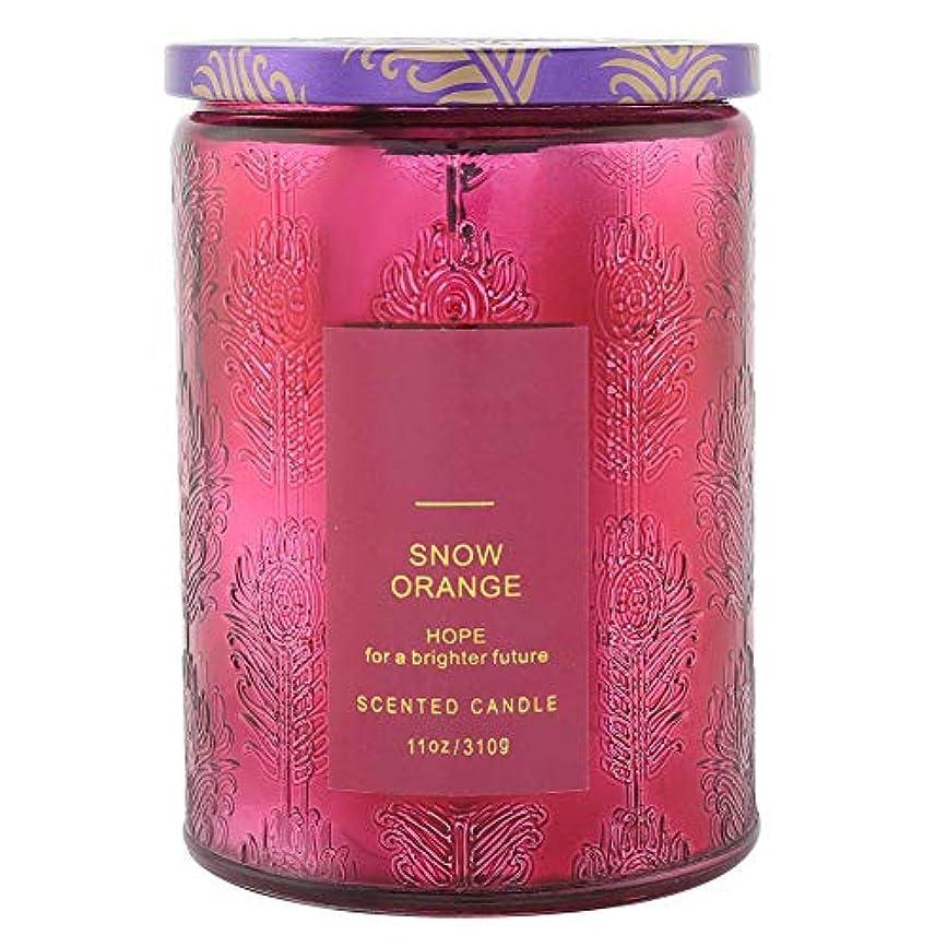 おなかがすいた強打貢献オレンジ香料入りキャンドル、繊細な香料入りキャンドルフルーツフレグランスワックスエッセンシャルオイルディフューザーキャンドル