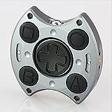 SUNKONG 奇跡の合体 Hand Spinner+Fidget Cube 2in1タイプ ハンドスピナー フィジェットおもちゃ SF01 (2in1-シルバー)