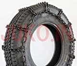 J67192  205/70R17.5LT  7.50-15LT  28×9.00-15 トラック・フォークリフト用 金属製タイヤチェーン 1ペア タイヤ2本分