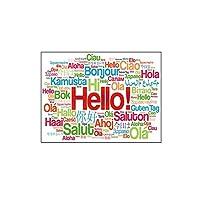Bibipangstore 英語語彙テーブルクロスポリエステルテーブルクロスダイニングテーブルカバーホームパーティー装飾テーブルクロス137 * 137センチ
