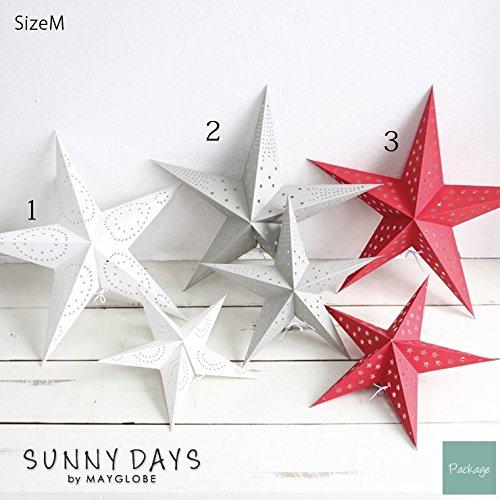 サニーデイズバイメイグローブ(SUNNY DAYS by MAYGLOBE) 星型ペーパーライト 大 /sd14002-3 (カラー レッド) 株式会社スプリング