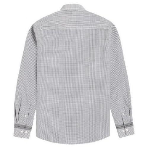 U-SHARKワイシャツ Yシャツ メンズ 長袖 ドレスシャツ カッターシャツ カジュアル ビジネス 加絨 裏起毛 厚手 保温 ストライプ柄 (42, 145黒白格子)