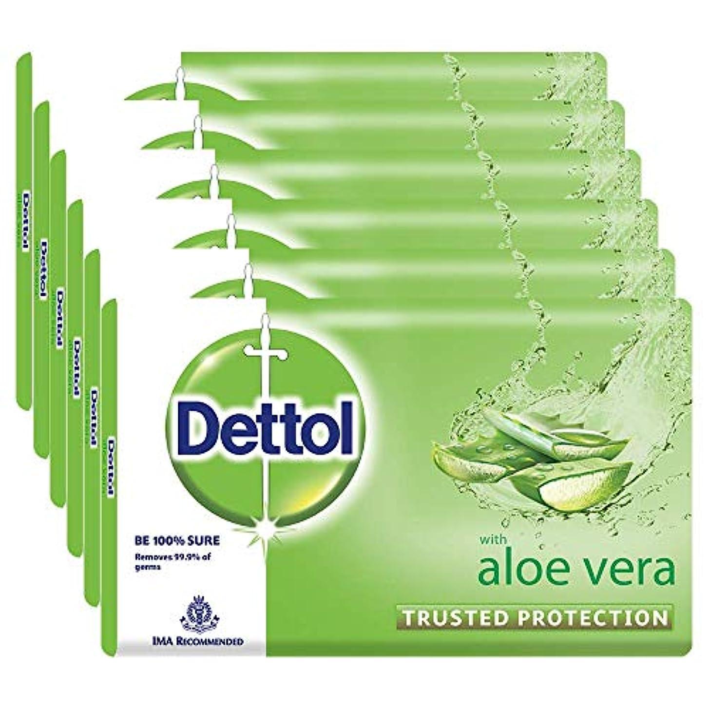 代わって火山学者サンダルDettol Soap - 100 g (Pack of 6, Aloe Vera)