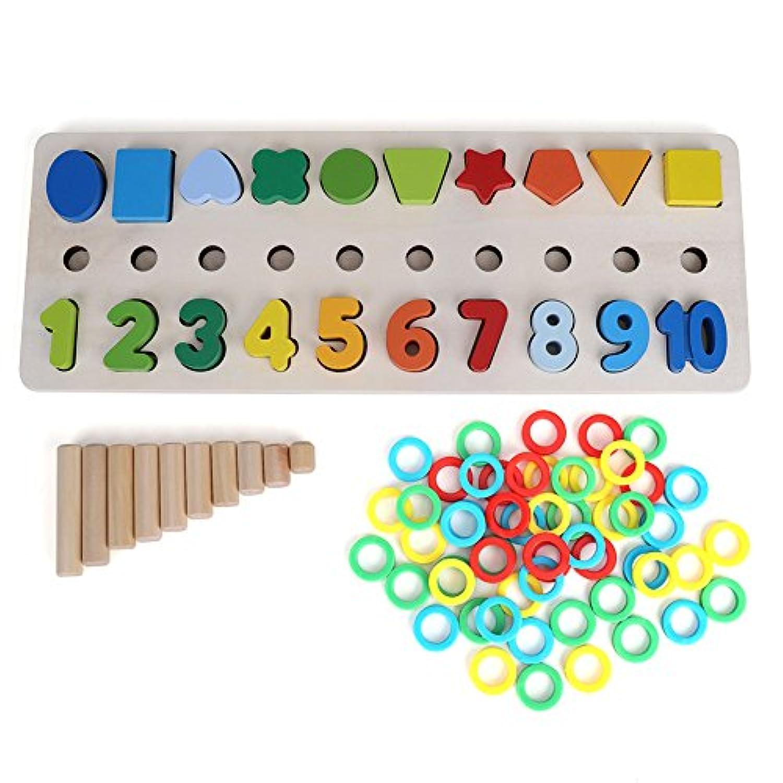 赤ちゃん 型あわせ おもちゃ パズル 幾何学 形状図形認知 図形識別 木製 知育玩具  教育玩具 訓練