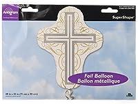 "Anagram International Elegant Cross Shape Flat Balloon, 28"", Multicolor"