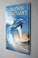 ブリキ看板 Tin Sign Nursery G. Huber Dolphin Sanctuary