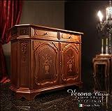 サイドボード 幅124cm イタリア 家具 ヨーロピアン アンティーク風