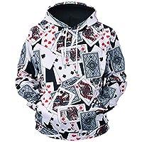 Unisex Playing Cards 3D Prints Peak Pullover Mens Hoodie Sweatshirt Jumper Jacket with Adjustable Hood and Front Pockets Team Club Couple Hoodies
