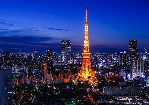 絵画風 壁紙ポスター (はがせるシール式) 東京タワー 夜景...