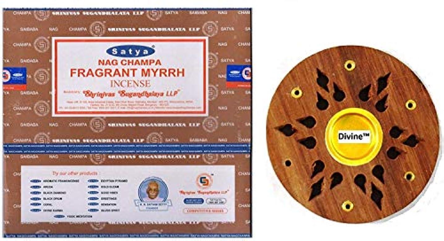 ロードハウス監査天国Satya Nag Champa Fragrant Myrrh Incense Sticks -12Packs x 15g (180g)
