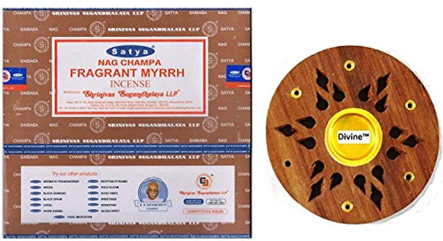 神いつも風刺Satya Nag Champa Fragrant Myrrh Incense Sticks -12Packs x 15g (180g)