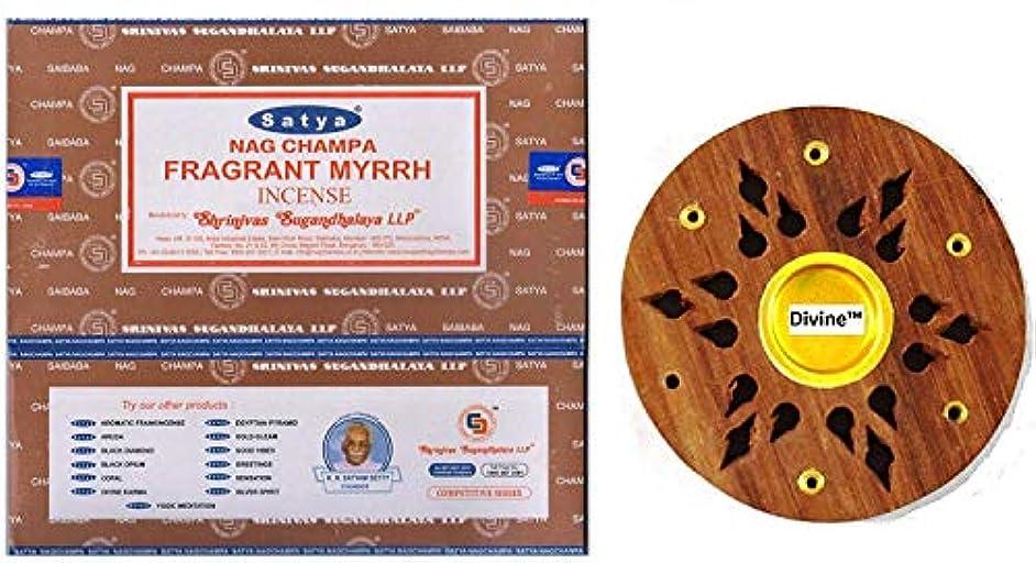スラック愛国的な変更Satya Nag Champa Fragrant Myrrh Incense Sticks -12Packs x 15g (180g)