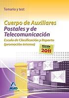 Cuerpo de Auxiliares Postales y de Telecomunicación, Escala de Clasificación y Reparto, promoción interna. Temario y test