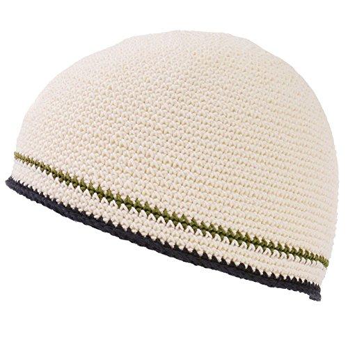 CHARM イスラムワッチ 帽子 [ フリーサイズ/ホワイト ] イスラム帽 ダブルライン 手編み コットン