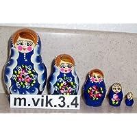 Russian Nesting Doll * 5 Pcs / 3 In - 8 cm (baby doll - 15mm) * vik.3.4