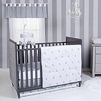 Trend Lab Bunnies 3 Piece Crib Bedding Set, Gray/White [並行輸入品]