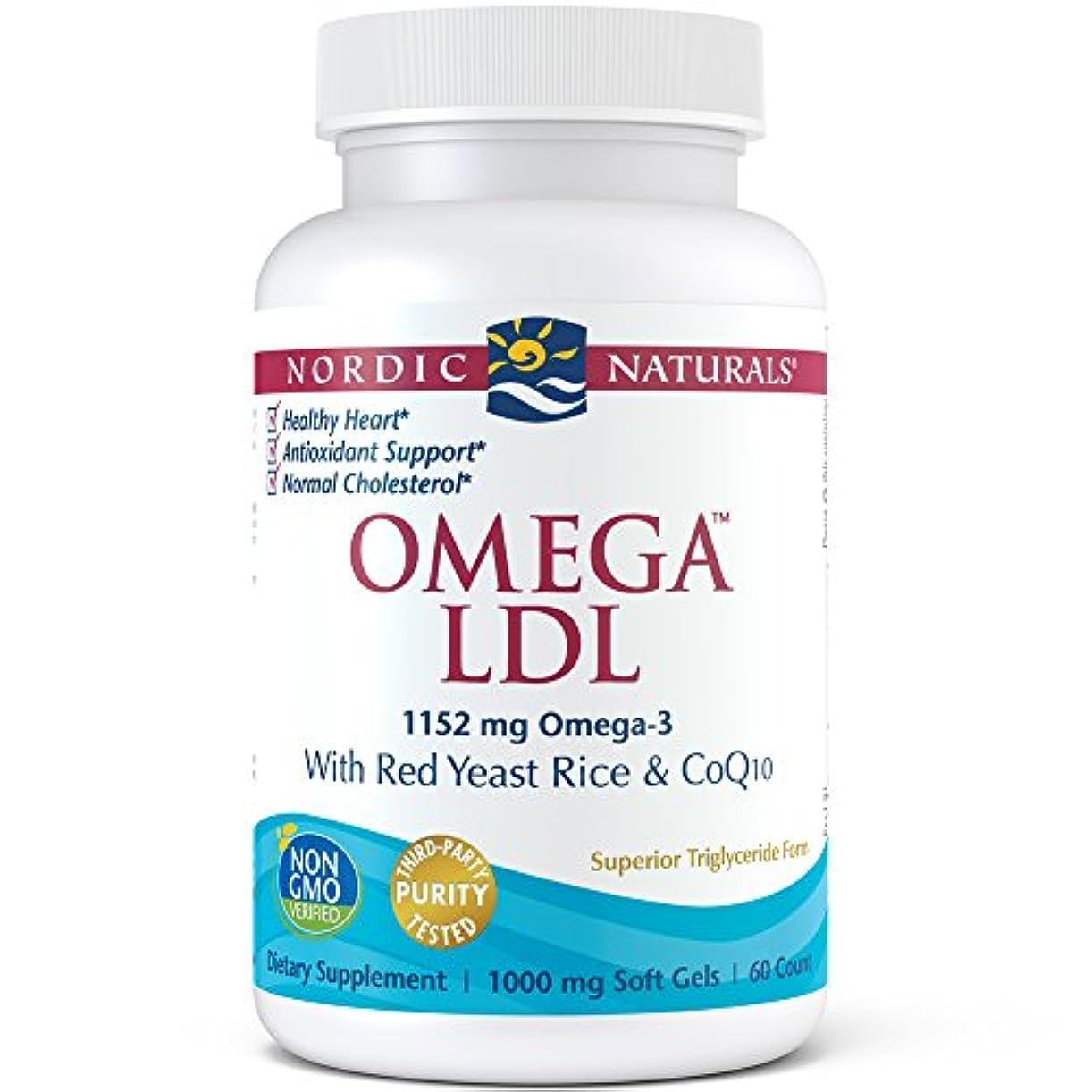 血色の良い芸術ポンプNordic Naturals オメガ LDL 60 カウント