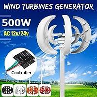風力タービン500W DC 12 / 24V家庭用ハイブリッド街灯用の英語600W風力発電機コントローラーハウスと組み合わせる,12v