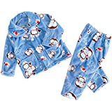 Infant and children's wear male baby flannel pajamas boys home service suits boys coral fleece dressing gowns