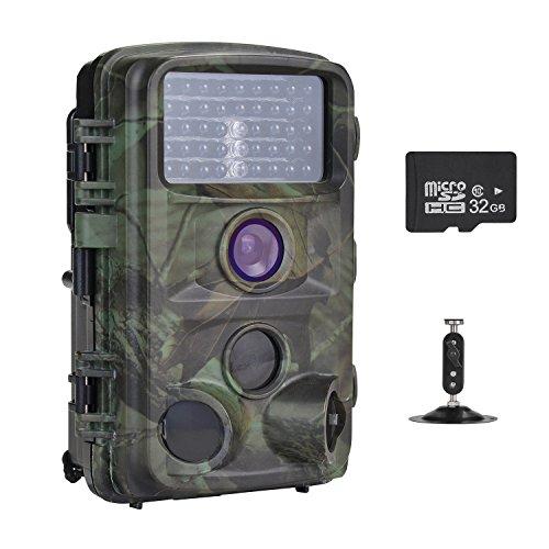 Nicam トレイルカメラ HD1080P狩猟ゲームカメラ1...