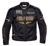 SIMPSON ジャケット メッシュジャケットブラック.エディション(BLACK.EDITION) ゴールド MSJ-6115B