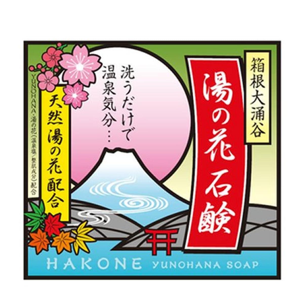 ライム一目シルエット箱根大涌谷 湯の花石鹸 90g