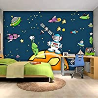 Jason Ming カスタム3D壁画子供部屋壁絵画漫画スター宇宙銀河背景赤ちゃん寝室天井スペース壁紙壁画-150X120Cm