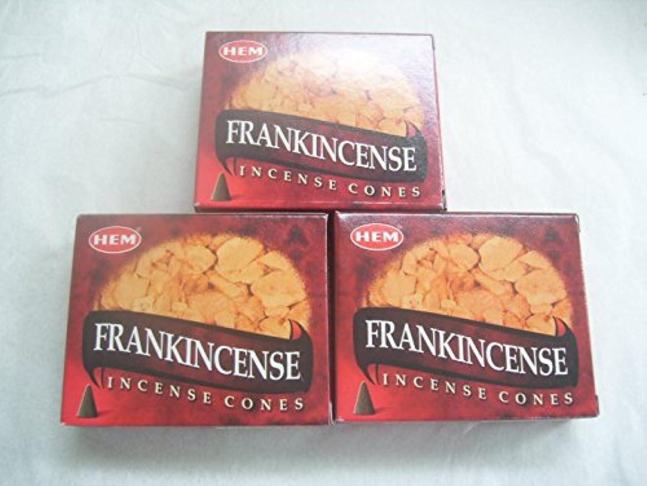 順応性のある宿泊施設教義Hemフランクインセンス香コーン、3パックの10 Cones = 30 Cones