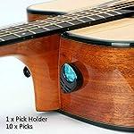 Mishiba ギター ピック ピックホルダー付き どこでも貼り付ける 収納便利 アコギ/エレキギター/ベース/ウクレレに対応 10枚入り(0.46*4、0.76*3、0.96*3