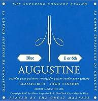 【国内正規品】バラ弦 AUGUSTINE オーガスティン クラシックギター弦 BLUE HIGH TENSION 6弦(E)