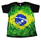 (MAO MAO) プリントTシャツ ブラジル国旗 サッカー メンズ [並行輸入品]