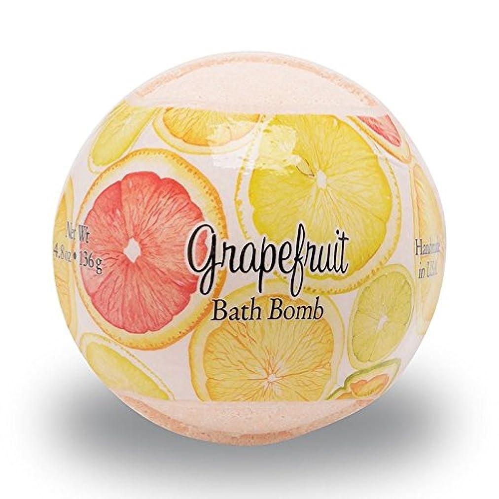 いつでもポジティブ衝突するプライモールエレメンツ バスボム/グレープフルーツ 136g シアバターとココナツ&アルガンオイル配合のお肌に潤いを与える発泡性入浴剤
