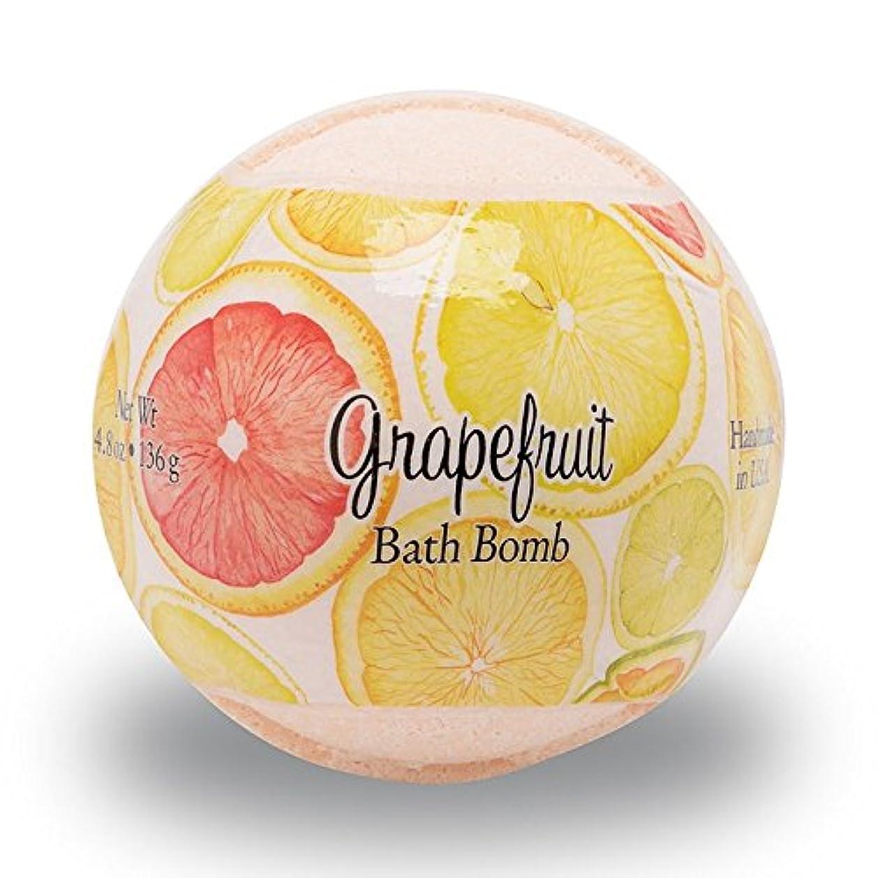 反動ブラシマニュアルプライモールエレメンツ バスボム/グレープフルーツ 136g シアバターとココナツ&アルガンオイル配合のお肌に潤いを与える発泡性入浴剤