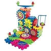 [クレイジギア]Krazy Gears Gear Building Toy Set Interlocking Learning Blocks Motorized Spinning Gears 81 Piece Playground Edition by [並行輸入品]