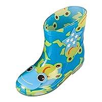 Zhhlinyuan 良質 Cute Boys Girls Waterproof PVC Water Boots Unisex 子供 Cozy Non-slip Rain Shoes