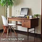 エモ emo デスク パソコンデスク 学習机 勉強机 120cm 収納 引き出し 木製 テーブル レトロ モダン アンティーク ビンテージ 北欧 ブラウン EMT-2063