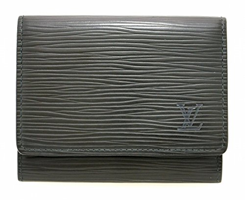 [ルイ ヴィトン] LOUIS VUITTON エピ アンヴェロップ カルト ドゥ ヴィジット カードケース 名刺入れ レザー ノワール 黒 ブラック M60652